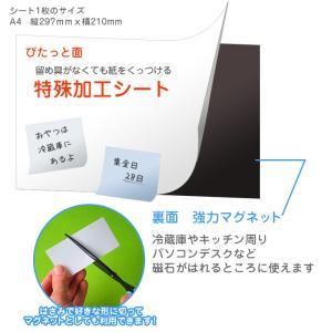 紙がくっつく不思議なボード【ぴたっとボード 】2枚 kapita 02