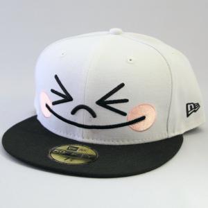 ニューエラ NEWERA xLINEフレンズ MOON ムーン コラボキャップ 帽子 ホワイト/ブラック 59FIFTY|kappacraft