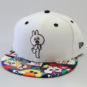 ニューエラ NEWERA xLINEフレンズ CONY コニー プリントバイザー コラボキャップ 帽子 ホワイト 59FIFTY|kappacraft