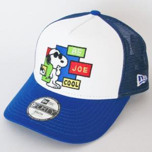 KIDS 子供用 ニューエラ NEWERA×PEANUTS コラボ 帽子 KIDS 9FORTY PEANUTS A-Frameトラッカー ジョー・クール ロイヤル kappacraft