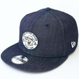 KIDS 子供用 ニューエラ NEWERA×POPEYE コラボ 帽子 KIDS 950 9FIFTY POPEYE(R) ポパイ(R) サークル アップリケ インディゴデニム|kappacraft