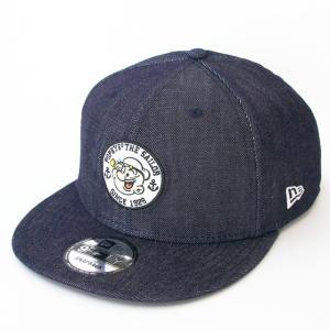 ニューエラ NEWERA×ポパイ コラボ 帽子 9FIFTY POPEYE(R) ポパイ(R) サークル アップリケ インディゴデニム|kappacraft