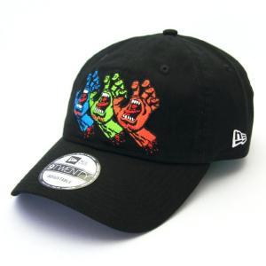 ニューエラ NEWERA×サンタクルーズ コラボ 帽子 キャップ 9TWENTY クロスストラップ Santa Cruz サンタクルーズ 3スクリーミングハンド ブラック|kappacraft