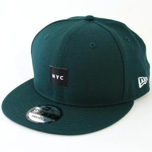 ニューエラ NEWERA 帽子 9FIFTY WOVEN LABEL ウーブンパッチ NYC ダークグリーン|kappacraft