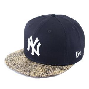 ニューエラ NEWERA 帽子 9FIFTY スネークバイザー ニューヨーク・ヤンキース ネイビー × ホワイト ベージュスネークバイザー|kappacraft