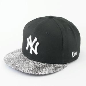 ニューエラ NEWERA 帽子 9FIFTY スネークバイザー ニューヨーク・ヤンキース ブラック × ホワイト ホワイトスネークバイザー|kappacraft