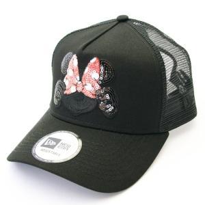 ニューエラ NEWERA 帽子 9FORTY A-Frame トラッカー ディズニー ミニーマウス スパンコール ブラック / ブラック|kappacraft