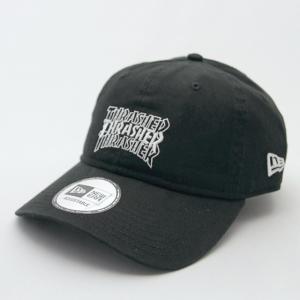 ニューエラ NewEraxTHRASHER コラボ 帽子 930 9THIRTY THRASHER スラッシャー 3ロゴ ブラック × ホワイト|kappacraft