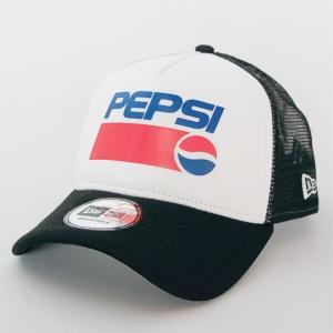 ニューエラ NEWERA X PEPSI コラボ 9FORTY A-Frame トラッカー 帽子 PEPSI ペプシ ロゴ  ホワイト X ブラック|kappacraft