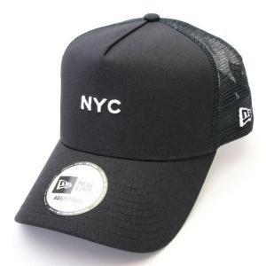 ニューエラ NEWERA 帽子 9FORTY A-Frame トラッカー NYC ミニロゴ ネイビー|kappacraft