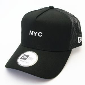 ニューエラ NEWERA 帽子 9FORTY A-Frame トラッカー NYC ミニロゴ ブラック|kappacraft