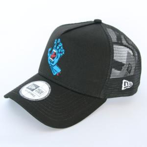 ニューエラ NEWERA 帽子 9FORTY A-Frame トラッカー Santa Cruz サンタクルーズ  スクリーミングハンド  ブラック スノーホワイト|kappacraft