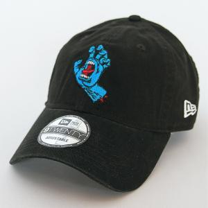 ニューエラ NEWERA×サンタクルーズ コラボ 帽子 キャップ 9TWENTY クロスストラップ Santa Cruz サンタクルーズ  スクリーミングハンド ブラック|kappacraft