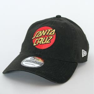 ニューエラ NEWERA×サンタクルーズ コラボ 帽子 キャップ 9TWENTY クロスストラップ Santa Cruz サンタクルーズ  ロゴ ブラック|kappacraft