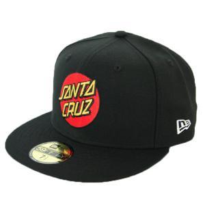 ニューエラ NEWERA×Santa Cruz コラボ キャップ 59FIFTY Santa Cruz サンタクルーズ ロゴ ブラック|kappacraft