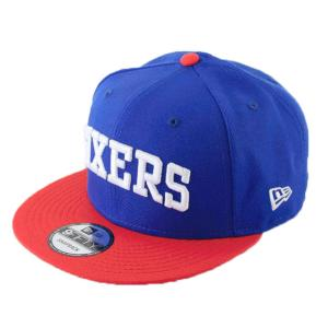ニューエラ NEWERA x NBA コラボ 帽子 9FIFTY フィラデルフィア・セブンティシクサーズ ブルー × ホワイト|kappacraft