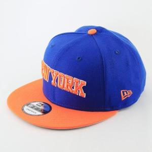 ニューエラ NEWERA x NBA コラボ 帽子  9FIFTY ニューヨーク・ニックス ブルー × オレンジ|kappacraft