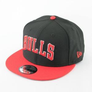 ニューエラ NEWERA x NBA コラボ 帽子 9FIFTY シカゴ・ブルズ ブラック × レッド|kappacraft