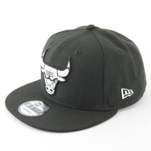 ニューエラ NEWERA x NBA コラボ 帽子 9FIFTY シカゴ・ブルズ ブラック × ホワイト|kappacraft