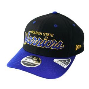 ニューエラ NEWERA 帽子 9FIFTY ストレッチスナップ ゴールデンステイト・ウォリアーズ ブラック マジェスティックブルーバイザー|kappacraft