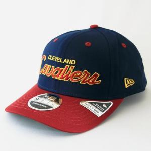 ニューエラ NEWERA 帽子 9FIFTY ストレッチスナップ クリーブランド・キャバリアーズ オーシャンサイドロゴブルー カーディナルバイザー|kappacraft