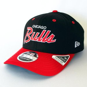 ニューエラ NEWERA 帽子 9FIFTY ストレッチスナップ シカゴ・ブルズ ブラック スカーレットバイザー|kappacraft