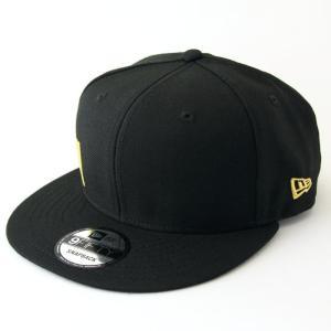 ニューエラ NEWERA 帽子 9FIFTY エッセンシャル ニューエラ サイドロゴ ブラック × メタリックゴールド|kappacraft