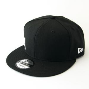 ニューエラ NEWERA 帽子 9FIFTY エッセンシャル ニューエラ サイドロゴ ブラック × ホワイト|kappacraft