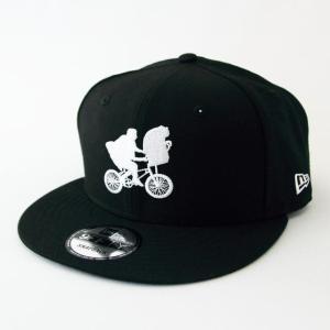 ニューエラ NEWERA x E.T. コラボ 帽子 9FIFTY E.T. イーティー BMX シルエット ブラック × ホワイト|kappacraft