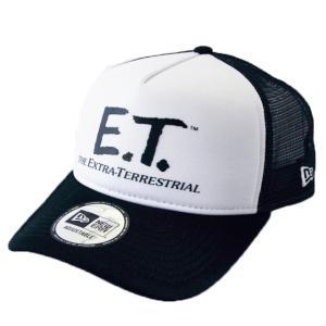 ニューエラ NEWERA×E.T. コラボ 帽子 9FORTY A-Frame トラッカー E.T. イーティー ロゴ ブラック/ホワイト|kappacraft