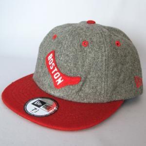 ニューエラ NEWERA 帽子 8パネル 19TWENTY ボストンレッドソックス グレー×レッド|kappacraft