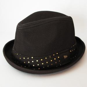 ニューエラ NEWERA 帽子 EK by New Era The Fedora / Cotton Herringbone フェードラ コットン へリングボーン ブラック|kappacraft