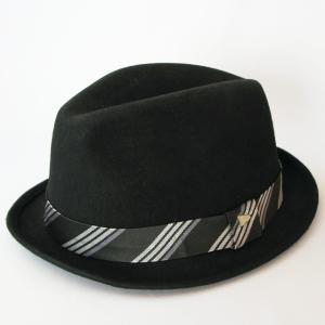 ニューエラ NEWERA 帽子 EK The Fedora Black Wool SatinBand フェードラ ウール サテンバンド ブラック|kappacraft