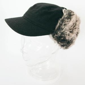 ニューエラ NEWERA 帽子 EK  The Range レンジ BlackFlannel ファー付き|kappacraft