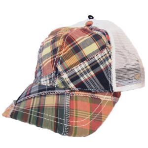 ニューエラ NEWERA 帽子EK Aフレーム トラッカー SHORELINE マドラスチェック|kappacraft