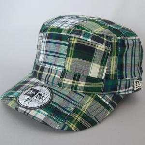 ニューエラ NEWERA ワーク&ミリタリーキャップ WM-01 帽子 パッチワーク グリーン|kappacraft