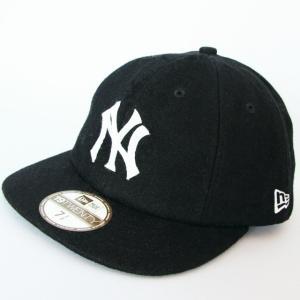 ニューエラ NEWERA 帽子 8パネル 19TWENTY メルトン ニューヨークヤンキース ブラックxホワイト|kappacraft