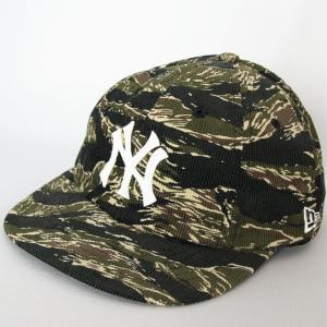 ニューエラ NEWERA 帽子 8パネル 19TWENTY TIGERCAMO ブラックコーデュロイ ニューヨークヤンキース グレーxホワイト|kappacraft
