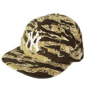 ニューエラ NEWERA 帽子 8パネル 19TWENTY TIGERCAMO ブラウンコーデュロイ ニューヨークヤンキース グレーxホワイト|kappacraft