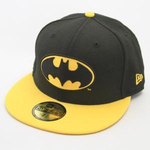 ニューエラ NEWERA xバットマンコラボ BATMAN BATロゴ 59FIFTY ブラックxイエロー|kappacraft