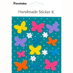 ハンドメイドステッカー フライング バタフライ Handmade Sticker K Flying Butterfly|kappaya