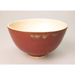 笠間焼 手作り 軽くて持ちやすいご飯茶碗、飯碗 (辰砂釉)