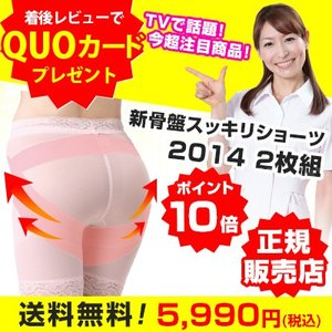 芦屋美整体 骨盤スッキリショーツ 2014 2枚組 送料無料 ポイント10倍 レビューでQUOカード500円