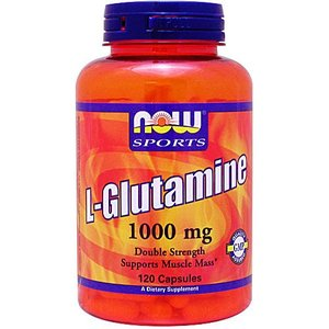 Lグルタミン 1000mg 120粒 NOW|karada-oh