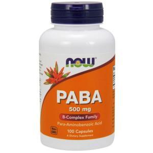 PABA 500mg(パラアミノ安息香酸) 100粒 NOW karada-oh