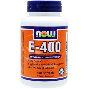 ビタミンE 400IU + セレニウム 100粒 NOW|karada-oh