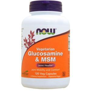 MSM グルコサミン ベジタリアン グルコサミン + MSM 120粒 NOW|karada-oh