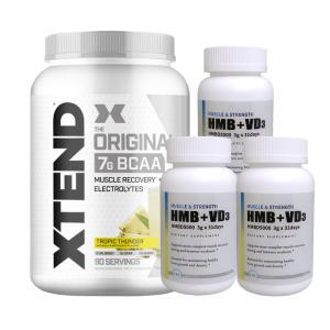 エクステンド(BCAA+Lグルタミン+シトルリン)※パイナップル 超お得セット 大容量約1.2kg(1個)&HMB+VD3(3個)|karada-oh