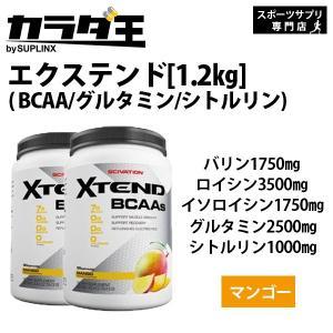 BCAA グルタミン シトルリン  [大容量約1.2kg×2個セット] エクステンド (BCAA+Lグルタミン+シトルリン)※マンゴー bcaa citrulline glutamine|karada-oh