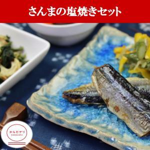 さんまの塩焼きセット(B-3)冷凍 弁当 宅配 おかず 惣菜 健康 弁当 カロリー 塩分 高血圧 メタボ からだデリ 味の富士山|karadadeli